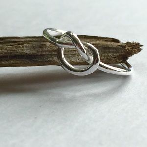 NEW Sterling Silver Love Knot Ring
